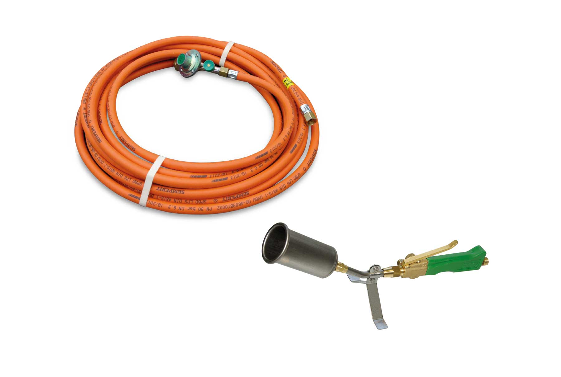 Titan TA 55 Anwärmbrenner mit 10 m HD-Schlauch / Titanium burner for pre-heating TA 55 with 10 m high pressure hose