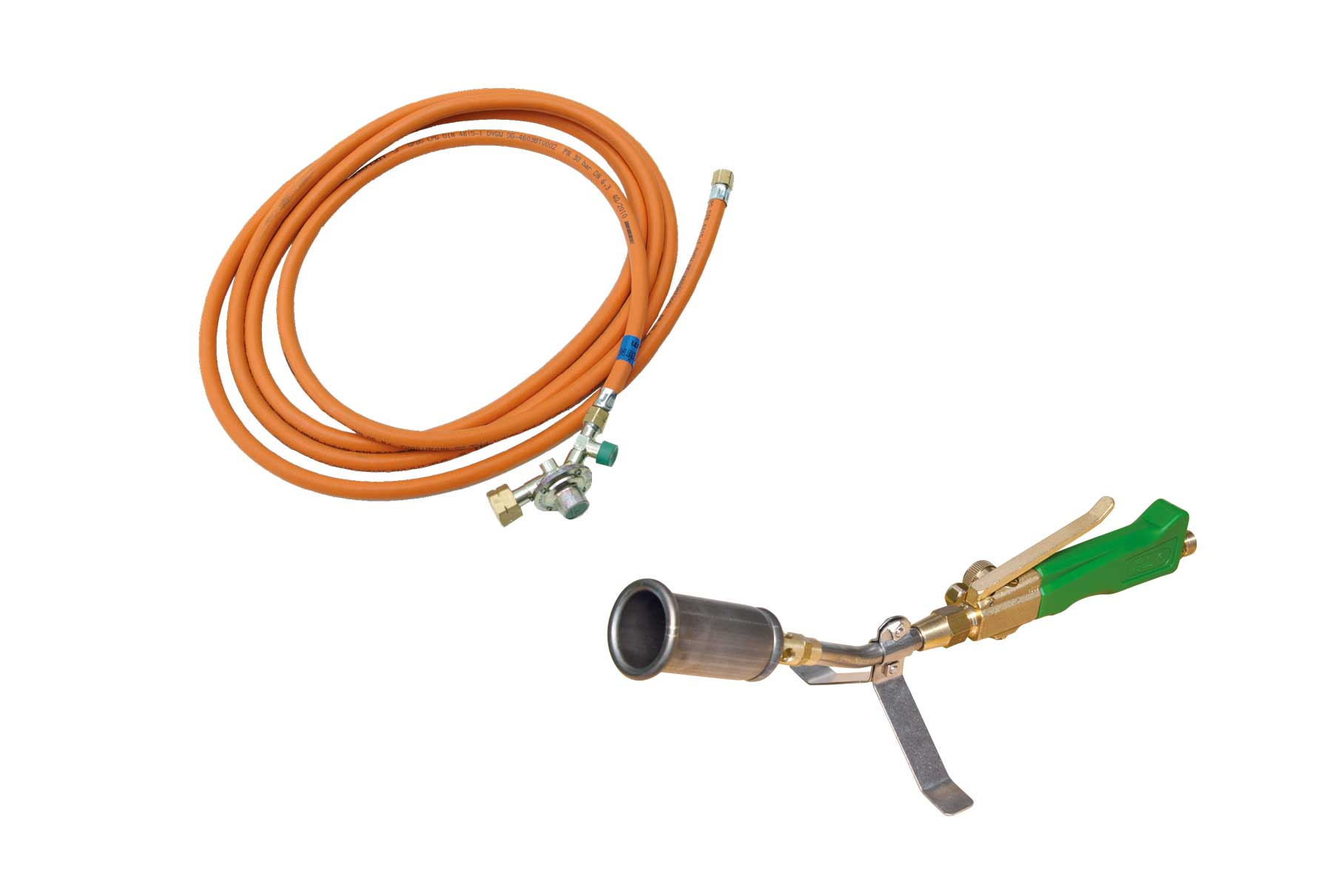 Titan TK 35 Anwärmbrenner mit 5 m HD-Schlauch / Titanium burner for pre-heating TK 35 with 5 m high pressure hose