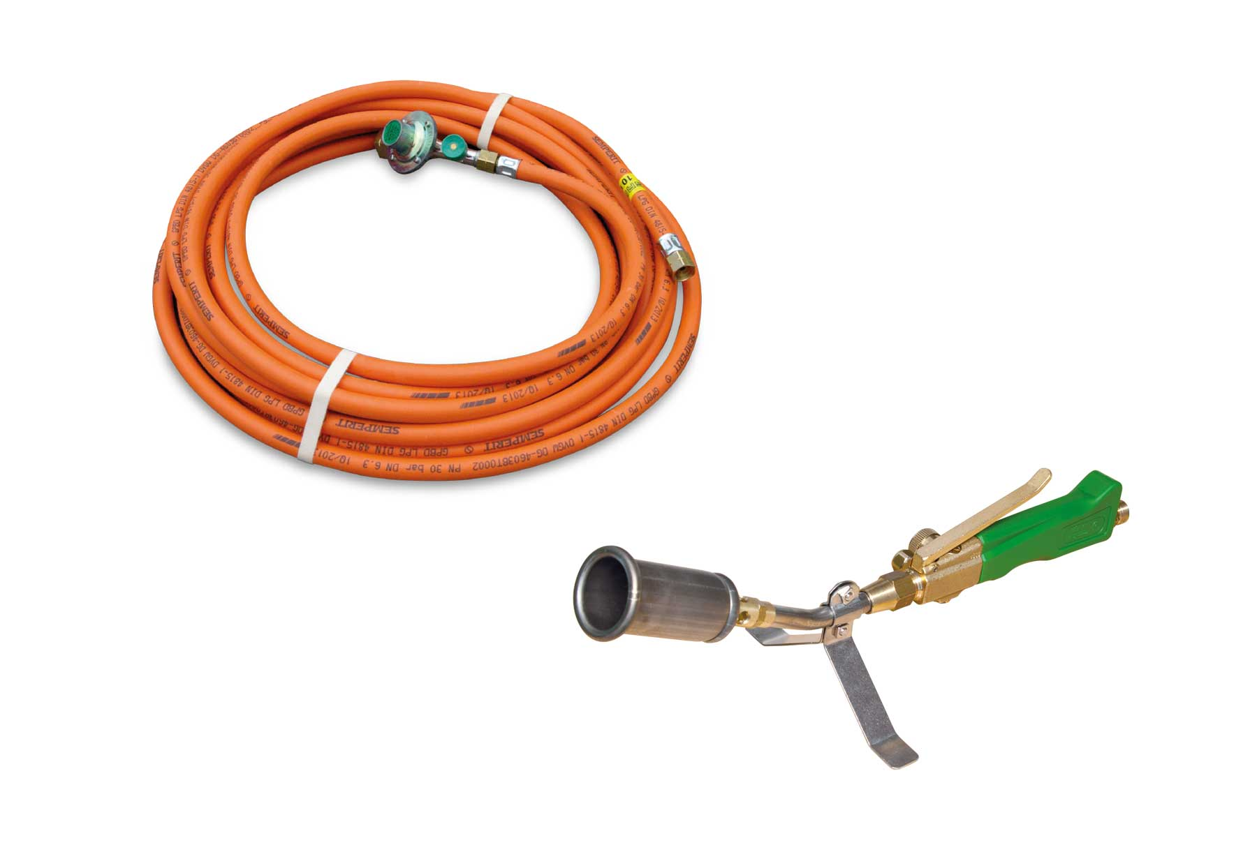 Titan TK 35 Anwärmbrenner mit 10 m HD-Schlauch / Titanium burner for pre-heating TK 35 with 10 m high pressure hose