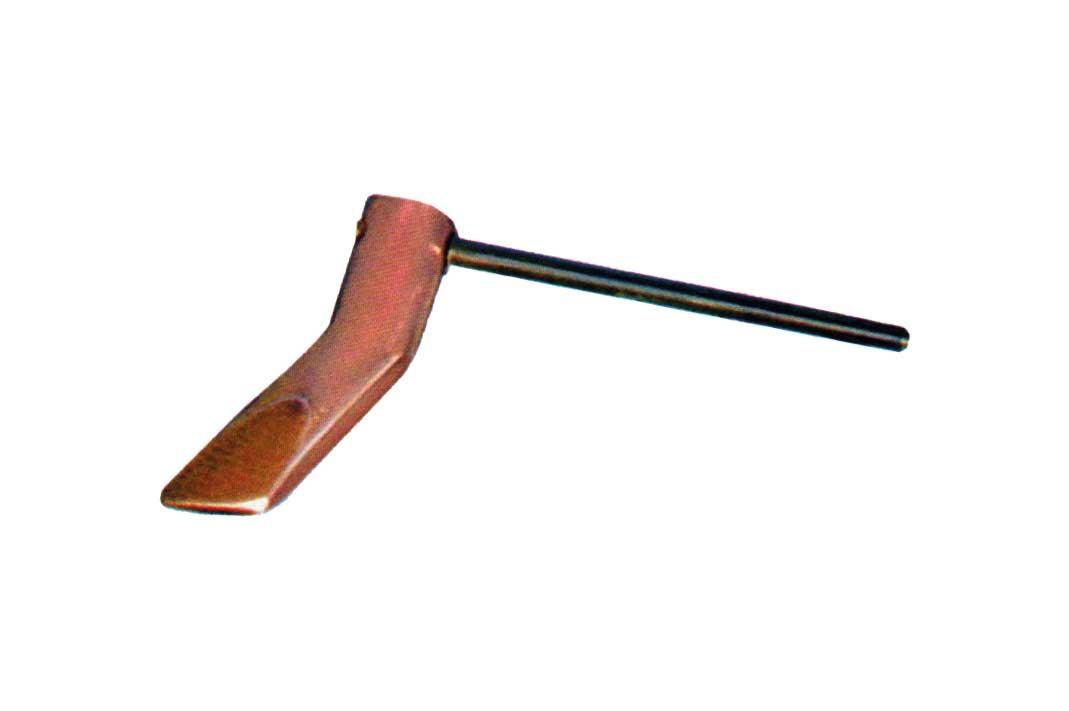Kupfer-Hammerlötkolben 350 g und 500 g abgewinkelt / Copper hatchet-type soldering iron 350 g and 500 g angled