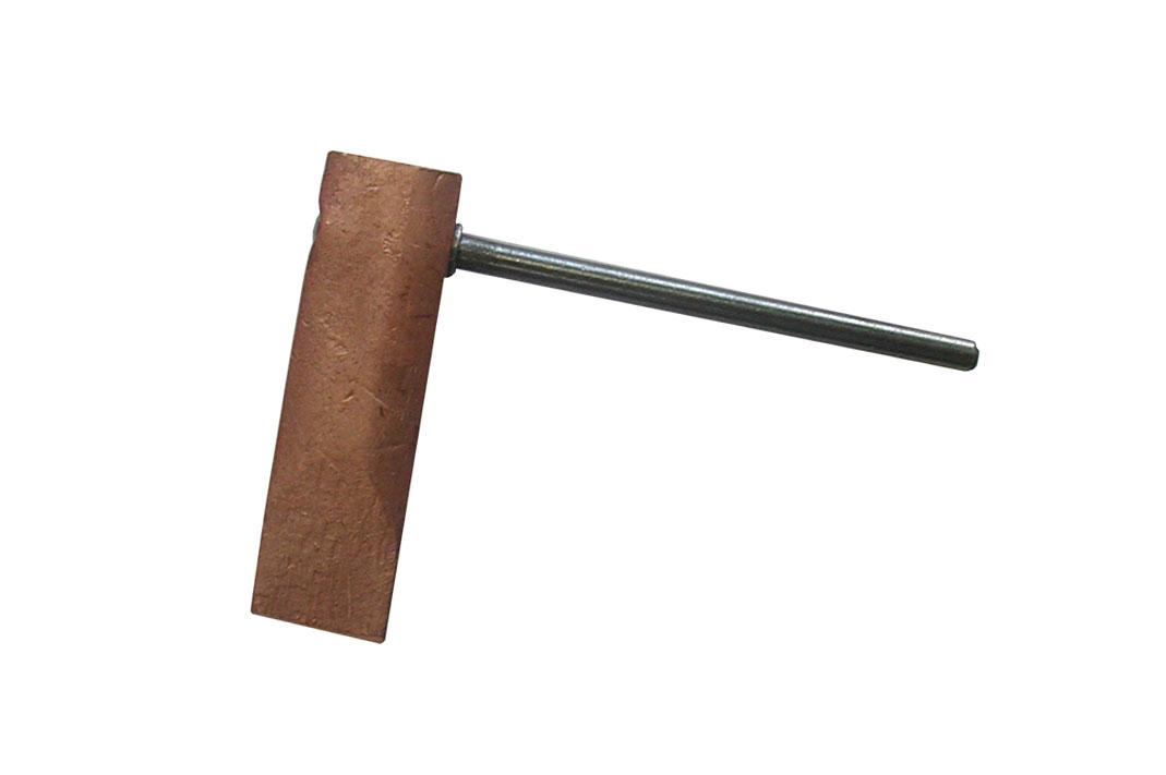 Kupferstück Hammerform 350 g gerade / Copper piece hammer form 350 g straight